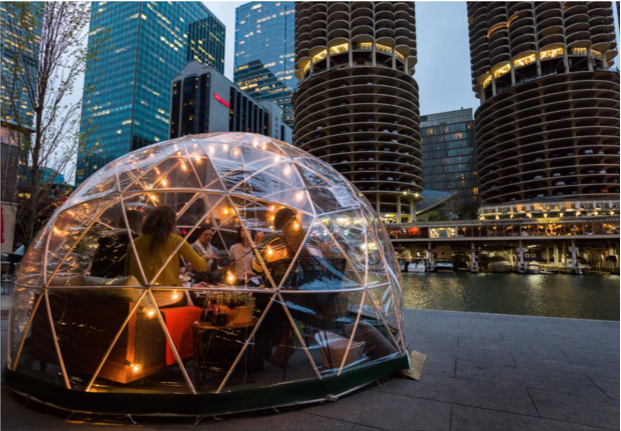 Double date ideas for the brutal winter: Heated Igloos for couples